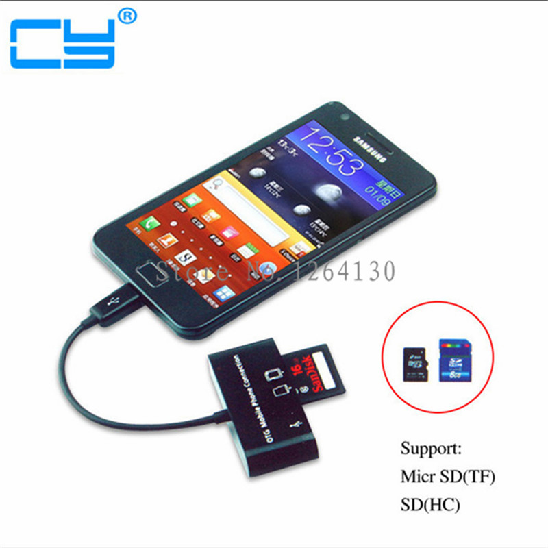 Micro USB OTG Adapter Kit Cable for Samsung S5/S4/S3 HTC ONE MOTO SONY XPERIA Z1 Z2 Z3 G1 G2 G3 with SDHC/SD/TF Card Reader-in Computer Cables ...