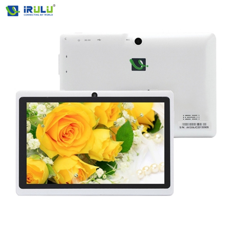 iRULU eXpro Tablet X1 7 Android 4.4 Tablet PC Quad Core 16GB ROM Allwinner A33 Dual Camera Support Wifi white Cheaper irulu expro x1 7 tablet pc allwinner a33