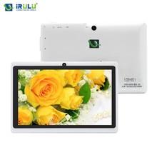 iRULU eXpro X1s 7 дюймовый Android планшет ПК четырехъядерный процессор 16 ГБ ПЗУ планшет ПК Allwinner A33 1.5 ГГц двойная камера поддержка Google Play белый