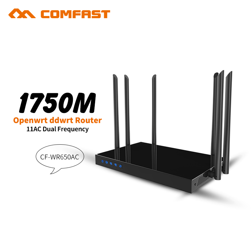 Comfast OpenWRT 1750Mbps Wireless Router 5.8G dual band high power repeater with 6*7dBi antenna 802.11ac access point AP router
