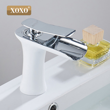 XOXO tocador de baño de cobre cascada para lavabo, grifo mezclador, lavabo cromado, estilo moderno de moda, 83008W