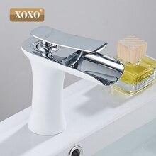 XOXO медный туалетный столик Водопад для раковины Смеситель хромированная раковина Современный модный стиль 83008 Вт