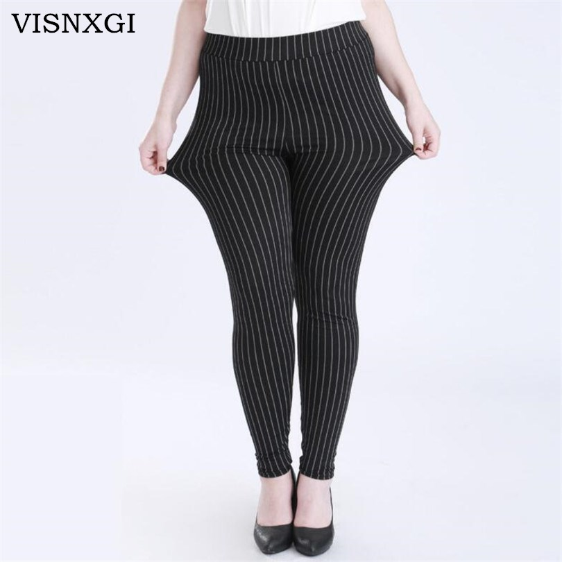 VISNXGI Women Fitness Leggings High Waist Sport Legins Femme Workout Push Up Stripe Elastic No Transparent Breathable Legging