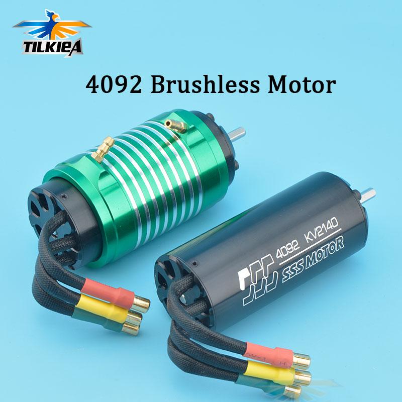 High Speed High Power 4200W SSS 4092 Brushless Motor 1650KV 2140KV Brushless Motor 4 Poles For