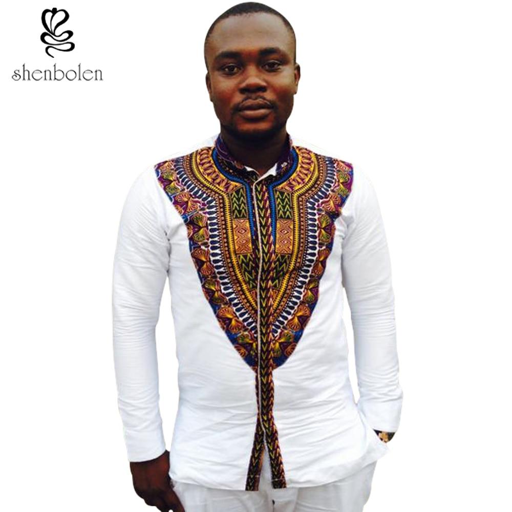 2017 Le Plus Récent Africain hommes de mode, dishiki batik couture à  manches longues de haute qualité à coudre livraison gratuite dans Afrique  Vêtements de