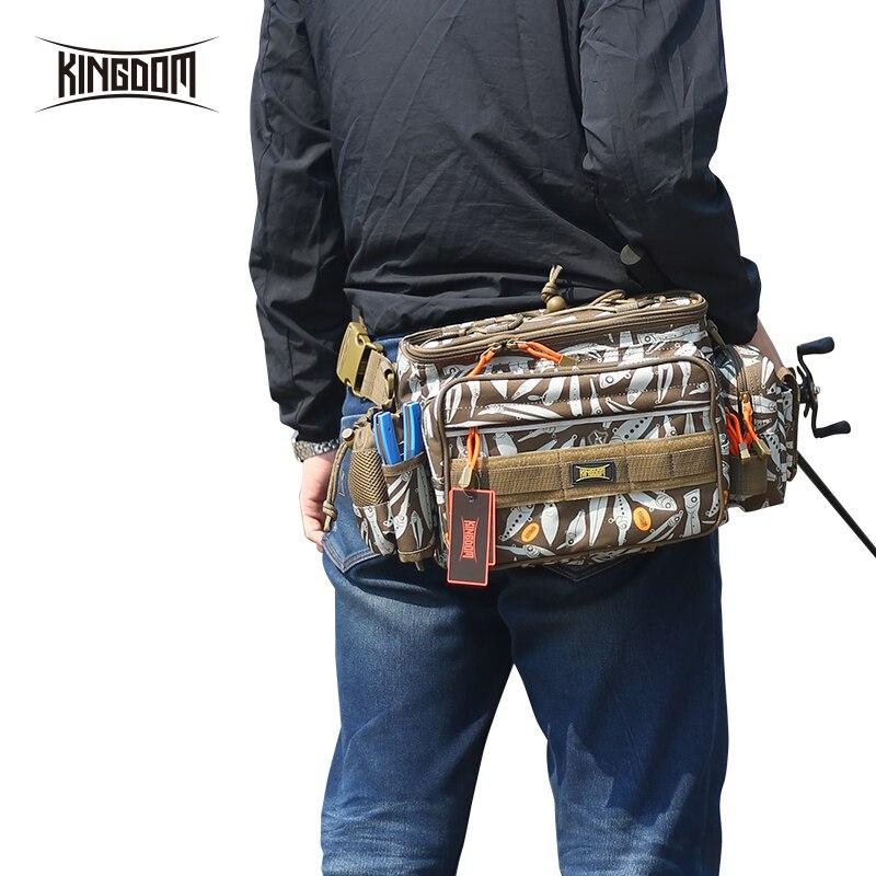 Kingdom Fishing Bags lure bag 1000D Waterproof Nylon Large Capacity Multifunctional 863g 31x18x16cm fishing case Model