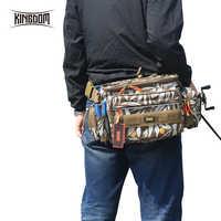Kingdom torby wędkarskie torba na przynęty 1000D wodoodporny Nylon o dużej pojemności wielofunkcyjny 863g 31x18x16cm fishing case Model LYB-13