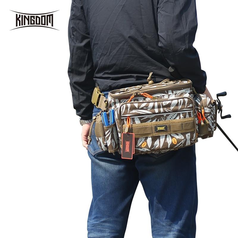 Kingdom Fishing Bags Lure Bag 1000D Waterproof Nylon Large Capacity Multifunctional 863g 31x18x16cm Fishing Case Model LYB-13