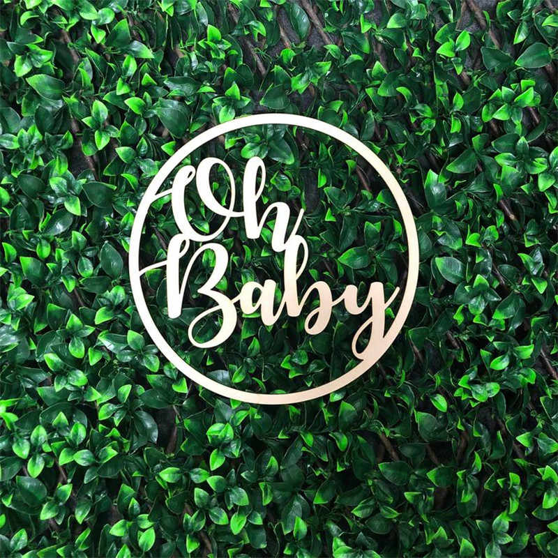 Detail Feedback Questions About Wooden Circle Oh Baby Sign Baby