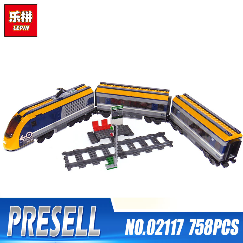 Lepin 02117 City Series The 60197 Passenger Train Set Building Blocks Bricks New Car Model Kids Toys As Birthday Christmas Gifts lepin 02112 new city series the arctic supply plane set 60196 building blocks bricks legoinglys toys model boy christmas gifts