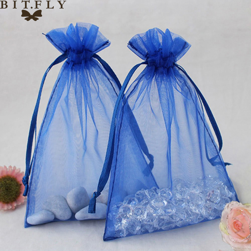Free Shipping Wholesale 100pcs/lot Lavender Organza Packaging Wedding Gift Bags&Pouches Nice Drawable Organza Voile Gift Pack