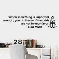 Бесплатная доставка Elon Musk наклейка с цитатами водонепроницаемые виниловые обои домашний декор для гостиной спальни художественные обои