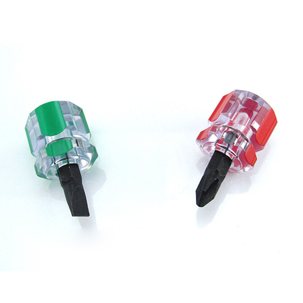 2 PCS Protable Anti Slip Phillips Screwdriver Bits Single Side Mini Screwdriver Tools 6x14mm