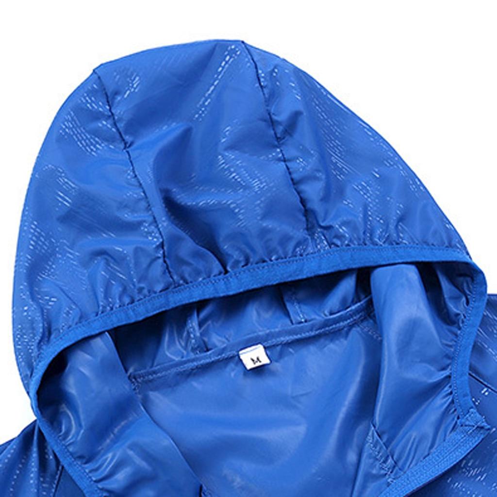 Men's Women Casual Jackets Plus Size Candy Color Windproof Ultra-Light Rainproof Windbreaker Hooded Coat Jackets 21