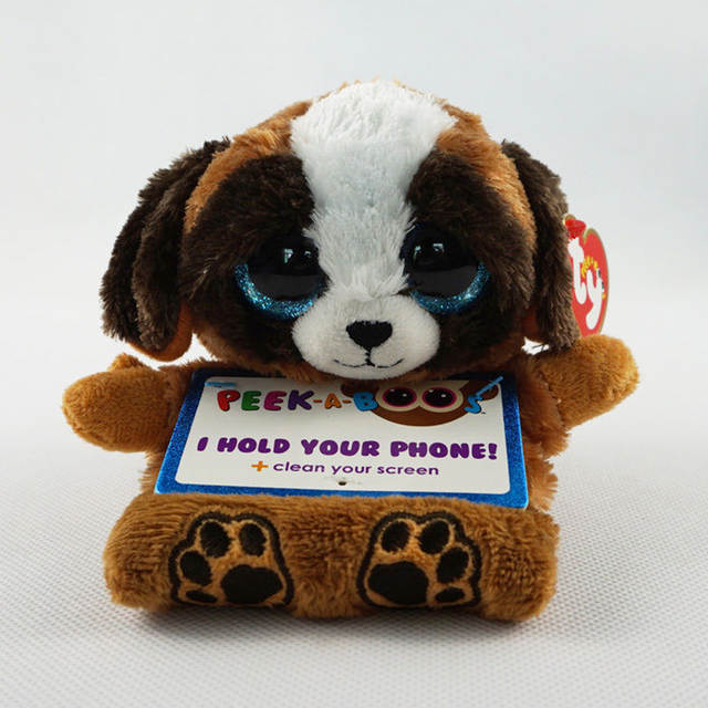 e9c1c68504d Online Shop Ty Peek-A-Boo Phone Holder with Screen Cleaner Bottom Pups the  Dog Plush Soft Stuffed Animal Collectible Doll Toy with Heart Tag