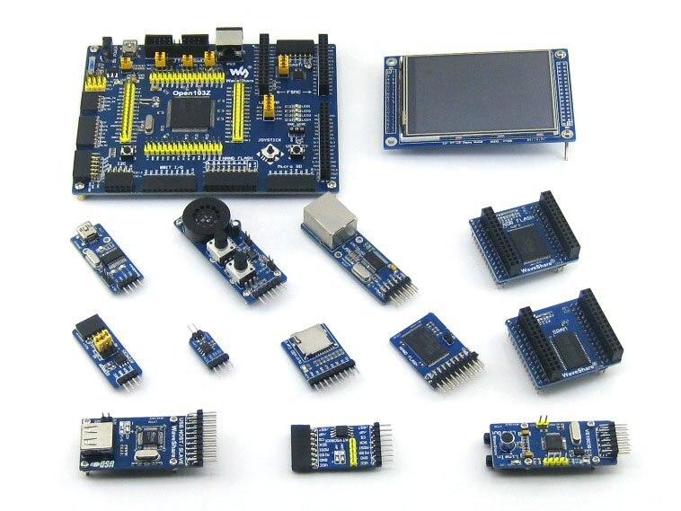 STM32 Board STM32F103ZET6 STM32F103 ARM Cortex-M3 STM32 Development Board + 12pcs Accessory Module Kits= Open103Z Package B