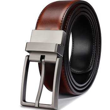 цена Men Reversible Buckle Belts Mens Leather Handmade Belt Fashion Cowhide Leather Men Belt Black/Brandy Big Size Designer Belt онлайн в 2017 году