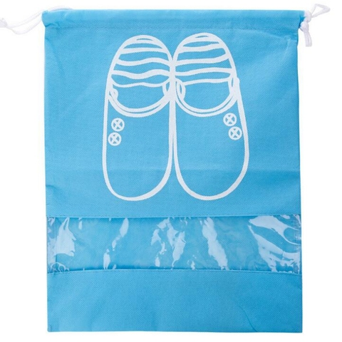 Travel Accessories Shoes Bags For Girls Women Dustproof Cover Shoes Bags Non-Woven Fabric Travel Beam Port Shoes Storage Bags Multan