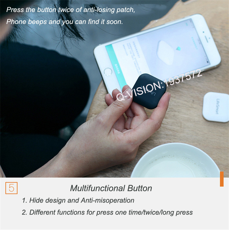 Lifesmart Bluetooth 4.0 Intelligent Patch Anti-lose 10-20M Control Distance Bi-direction Alarm Wearable Device Smart Home Switch-7