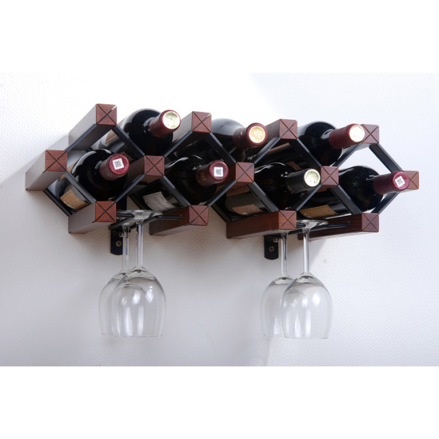 A frame wood wine rack cosmecol Hanging wooden wine rack
