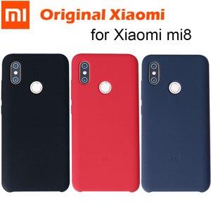 Image 1 - 100% Chính Hãng Xiaomi Mi 8 Ốp Lưng Xiaomi Mi 8 Bao Da chống trầy xước Lưng Silicon mềm lưng Bao Da bền cao su chống sốc