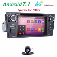 4G Capacitive 7″Touch Screen car gps navigation for bmw e90 E91 E92 GPS 3G Bluetooth Radio USB SD Steering wheel Free Car camera