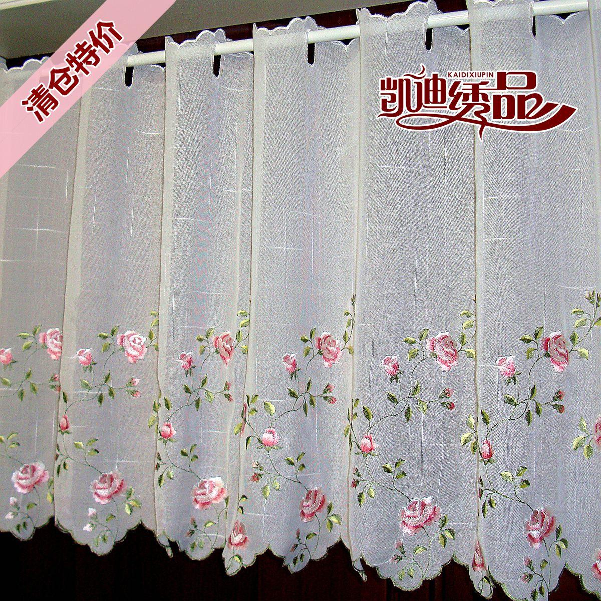 Gardinen Branco Bordado Floral Half Cortina Bay Janela Cortina De