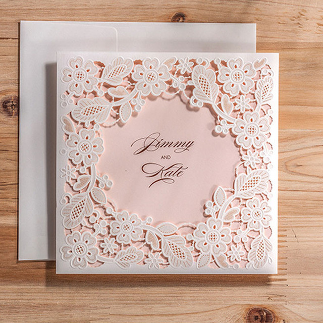 10pcs luxury wedding invitations greeting card holiday supply