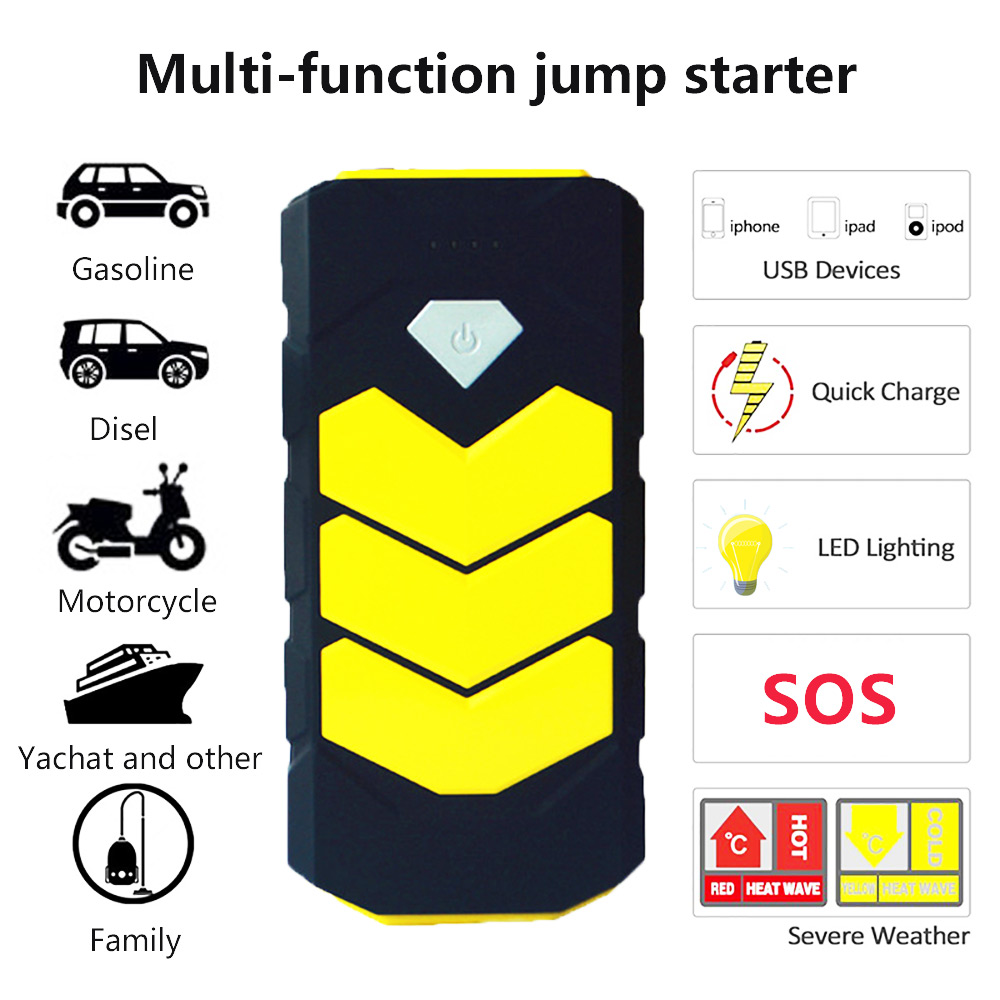 Emergency Car Jump Starter 12V Portable Power Bank Emergency Starting Device Car Charger for Car Charger Battery Booster Buster dual usb output universal thunder power bank portable external battery emergency charger 13000mah yb651 yoobao for electronics