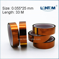 5 Rolls 25mm Width 33M Kapton Tape High Temperature Heat Resistant Polyimide