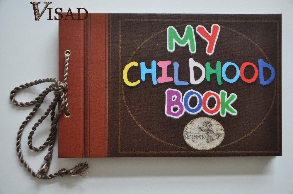 Envío libre 19x29.5x2.5 cm sticky tipo foto album mi infancia libro  aventura libro de hojas sueltas álbum de fotos mejor regalo para niño b7bd6391a1f