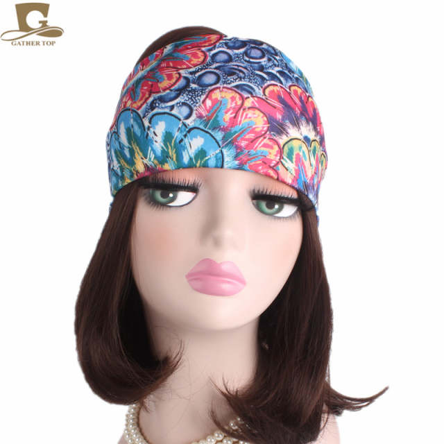 Online Shop Cheap Womens Yoga Turban Headband Running Fitness wide Headbands  No Slip Retro Hair Accessory Bandeau Summer Beach Hair band  1f46add703f