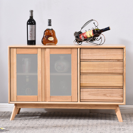 US $1203.99 14% OFF|Kitchen Cabinets Kitchen Furniture Home Furniture Solid  wood side cabinet door base cabinets Glass storage cabinet 100*36*65cm-in  ...