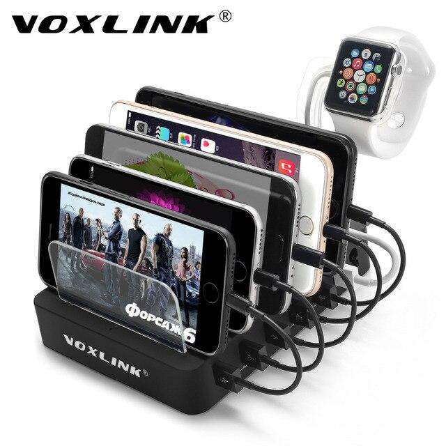 Voxlink Usb Charging Station 60w 12a 6 Ports Hub Multiple Charger Desktop