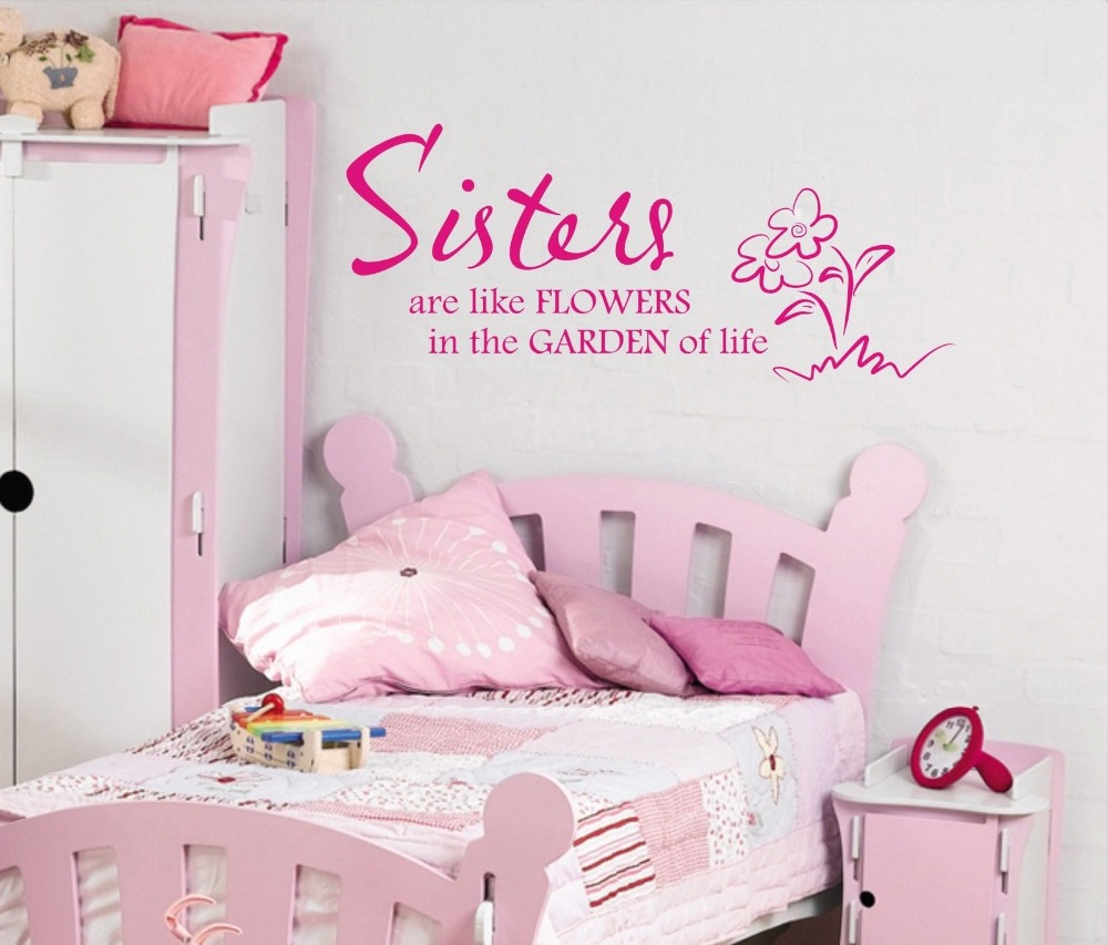 Wall Art Stickers Quotes popular sister wall quotes-buy cheap sister wall quotes lots from