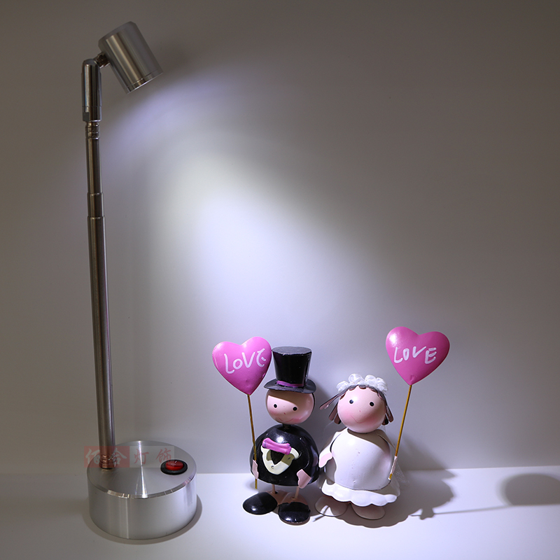 Dry battery lamp LED Spotlight lamps exhibition long telescopic cabinet lamp jewelry lat ...