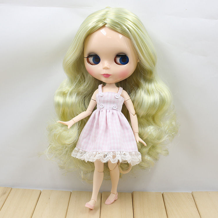 joint body Nude Blyth Doll Mixed hair without bang RBW-in