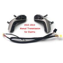 Для 2012/2013/ hyundai Elantra руководство Transmisssion Многофункциональная кнопка руль Bluetooth аудио и круиз кнопки управления