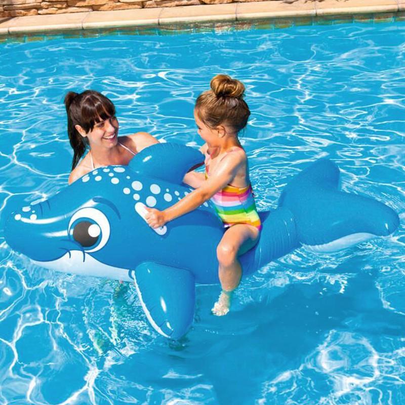 Mankoo Nuoto Animali gonfiabili Animali Balena Bagno Isola Materasso ad Aria per Piscina Piscina per Bambini Piscina per Bambini Lago Mare Fiume Ideale per Bambini Adulti in Estate