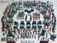307 Adet/takım WWll Askeri Asker Adam Highquality Rakamlar PVC Savaş Askeri Suit of Model Uçak & Tanklar ve Füze Modeli Çocuk oyuncak