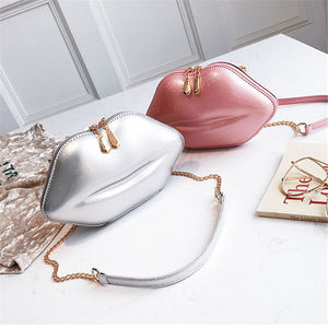 Сумка-мессенджер TOYOOSKY 2018 Женская, красный клатч губы, сумка из искусственной кожи высокого качества с цепочкой, сумка на плечо, вечерняя сумка в форме губ