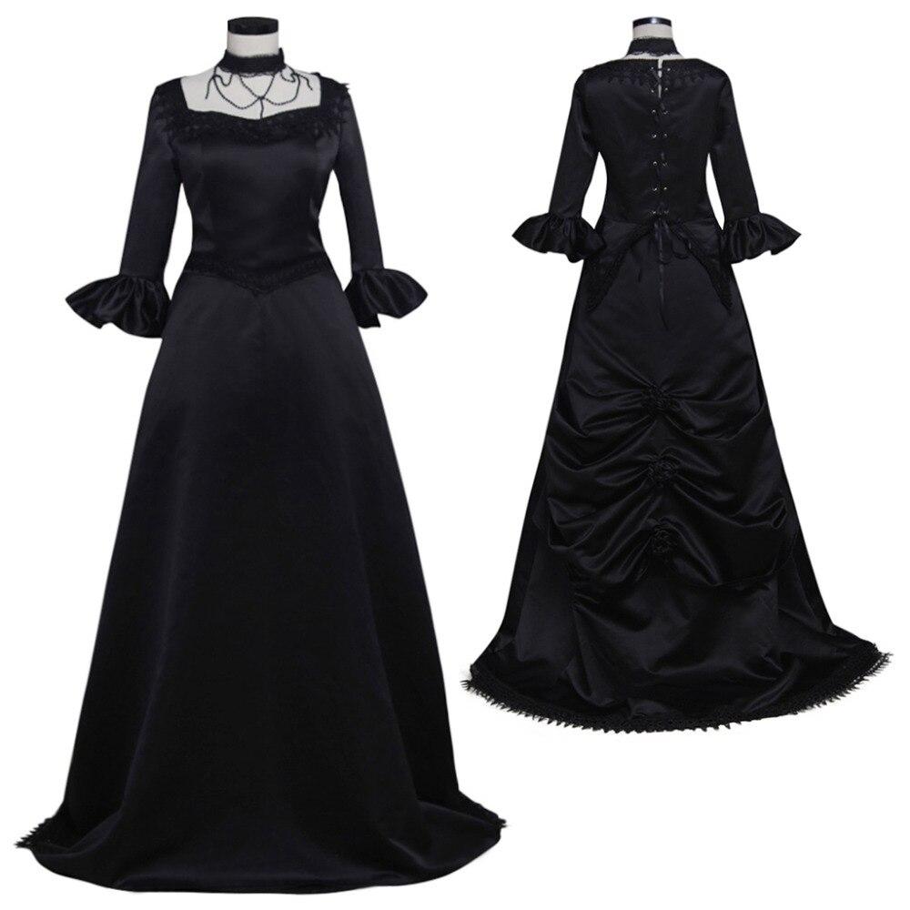 Платье средневековое черное
