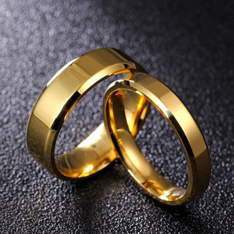 Paar Ring Für Frauen Und Mann Titan Stahl Liebhaber Ring Edelstahl Hochzeit Bands Hochzeits- & Verlobungs-schmuck Eheringe