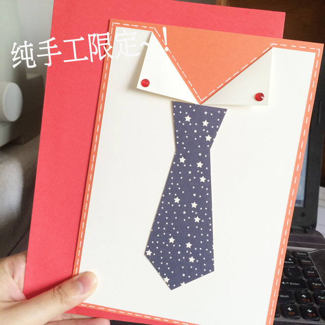 Italian Hand Made Greeting Cards Tie For Fathers Day To Send A Birthday Card Dad Boyfriend Color