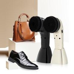 Kit de pulidor de zapatos eléctrico multifuncional, Juego de cepillos de limpieza de bolso de zapato de mano, máquina para el cuidado del cuero