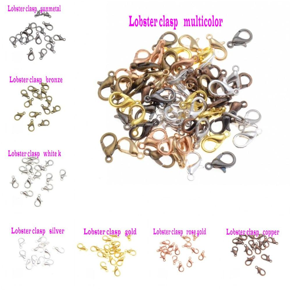 Jewelry Findings Diy 12*6mm 14*7mm Gold/Silver/Bronze/Silver Tone Lobster Clasp For Jewelry Making