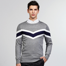 2017 Winter New Fashion Casual Stripe Sweater O-neck Slim Fit Knitting Warm Pullover Men Clothes Male Sweatercoats Korea Style