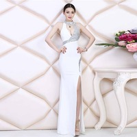 2017 Summer Dresses Sexy Bodycon Evening Party Lace Mermaid Elegant Club Dance Long White Black Red