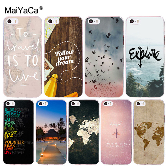 Maiyaca world map travel plans soft tpu phone case cover for apple maiyaca world map travel plans soft tpu phone case cover for apple iphone 8 7 6 gumiabroncs Gallery