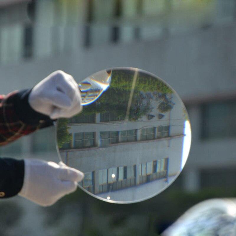 1PC Diâmetro 200 milímetros Rodada de Plástico Solar Fresnel Lupa Lente de Comprimento Focal 100 milímetros para o Plano de Condensação, concentrador Solar